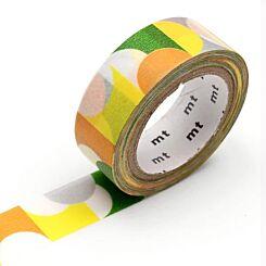 MT Washi Masking Tape Half Circle Yellow Green