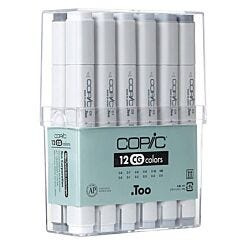 Copic Marker Pen Set of 12 Cool Greys   London Graphics Centre