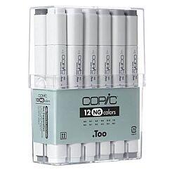 Copic Marker Pen Set of 12 Neutral Greys   London Graphics Centre