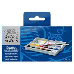 Winsor & Newton Cotman Watercolour Sketchers Pocket Box, in box | London Graphic Centre