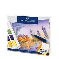 Faber-Castell Creative Studio Watercolour Pan Set of 24 Front Box