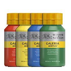 Winsor & Newton Galeria Acrylic Paint 500ml Group | London Graphic Centre