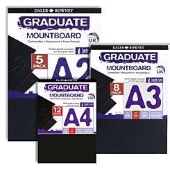 Daler-Rowney Graduate Mountboard Black | London Graphic Centre