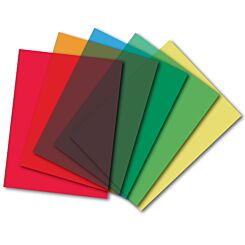 Frisk Coloured Acetate Pack of 10 Colour Selection