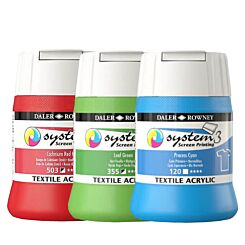 Daler-Rowney System 3 Screen Printing Textile Paint 250ml
