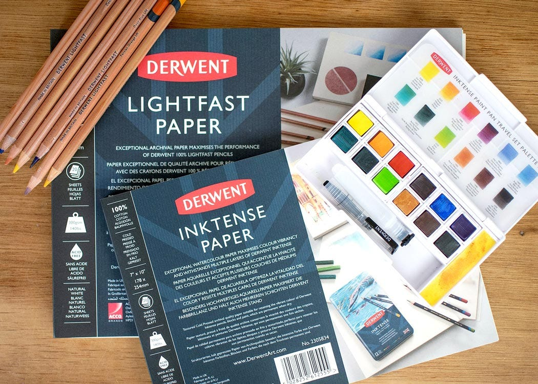 What is Lightfast and Inktense Paper?
